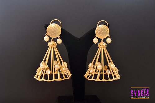 Statement  Golden Earrings with beautiful Pearls