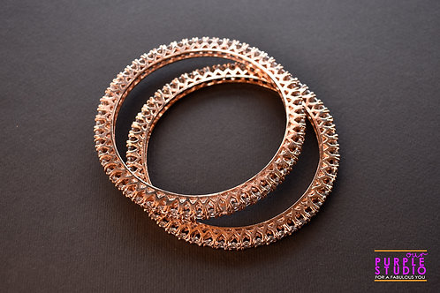 Sophisticated Rose Gold AD Bangles