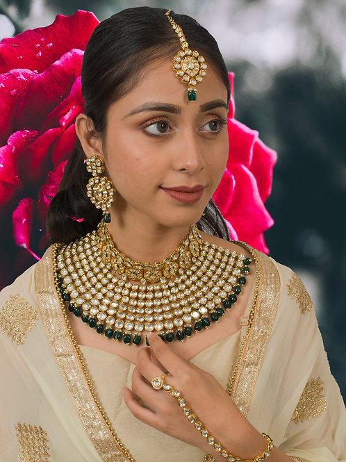 Stunning Kundan Bridal Set in Green