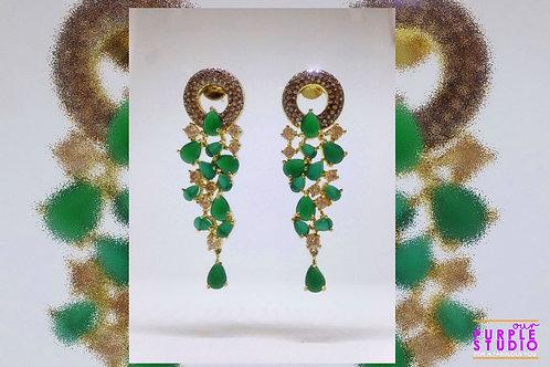 Gorgeous Green Evening Wear Earring