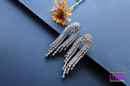 Exquisite Earrings with AD Shower