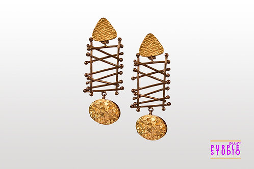 Smart Unconventional Danglers with Criss Cross Design