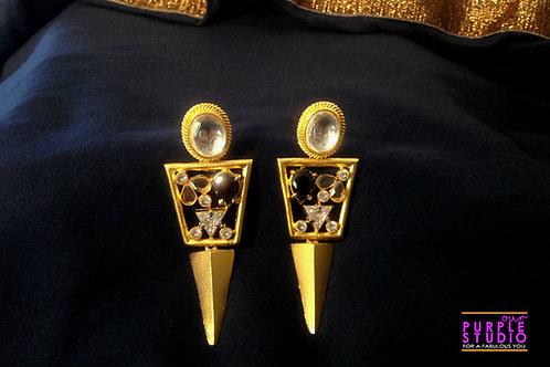 Golden Fusion Danglers