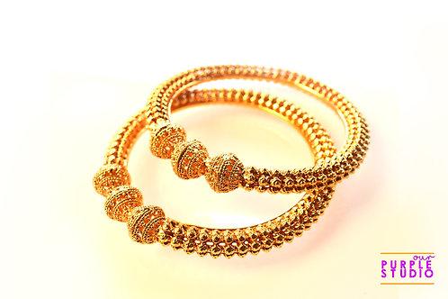 Beautiful Pair of Golden Bangles