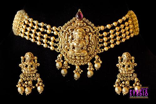Lakshmi Ji Choker Necklace Set