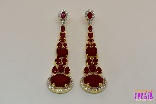 Enchanting Red Chandelier Earrings