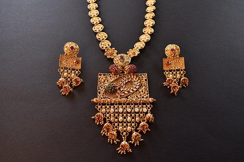 Long Golden Rani  Necklace Set