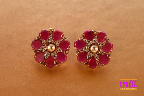 Gorgeous Victorian Look Pink Color Stud