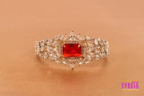 Princess Bracelet in CZ and Red Onyx Stone