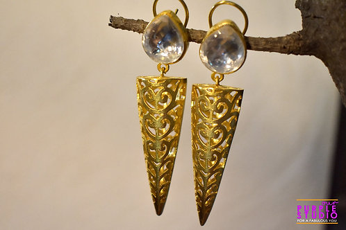 Golden Triangle Earring