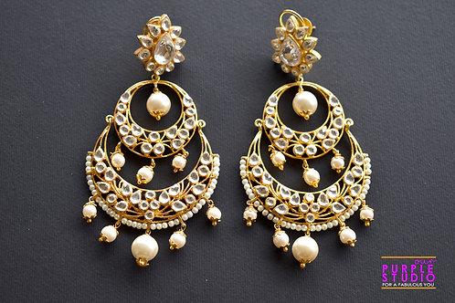 Elegant Kundan Chandbali