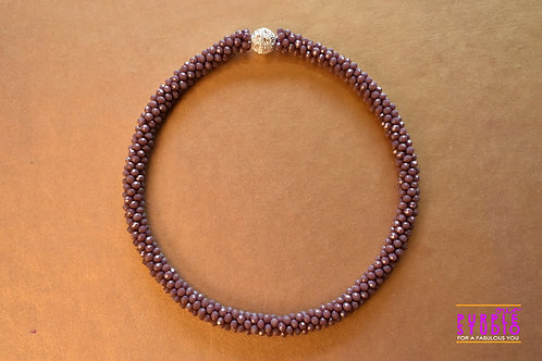 Youthful Wine Color Beaded Necklace