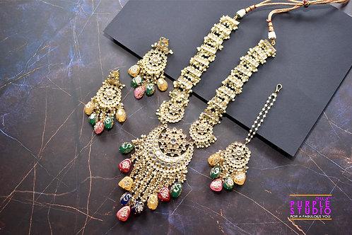 Tone Kundan Wedding Necklace Set