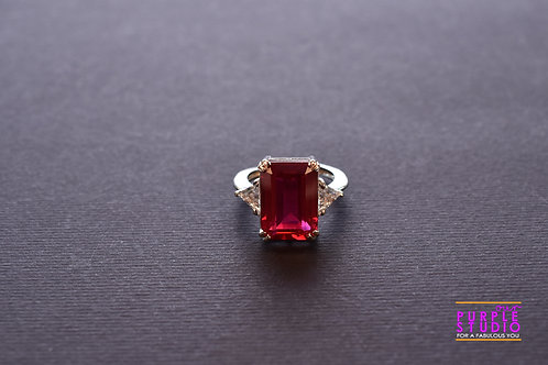 Sparkling Red Swarovski Cocktail Ring