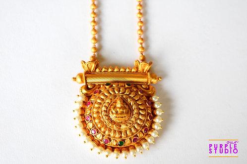 Gorgeous Golden Laxmiji Temple Necklace Set