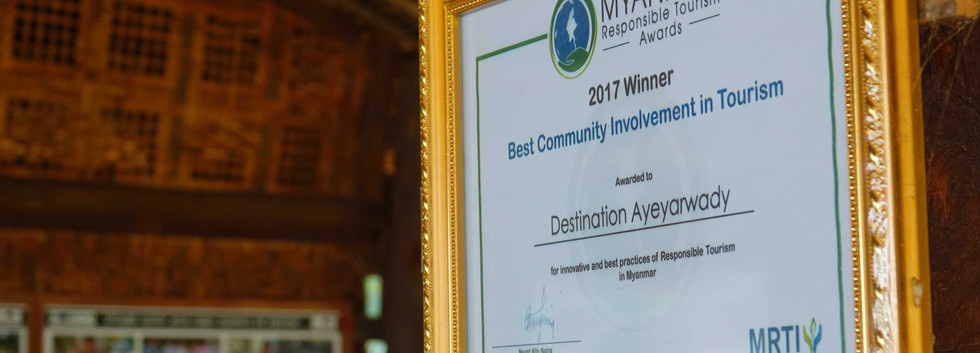 An award for Community-based Tourism