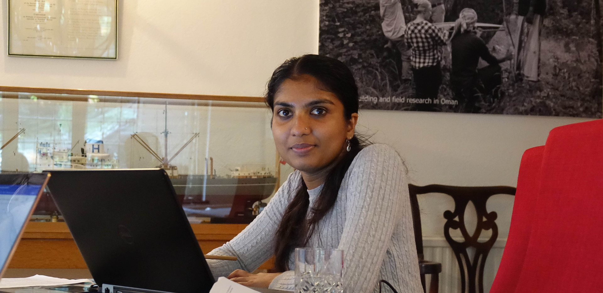 Dr Parvathy Venugopal working on her PhD at the Institute