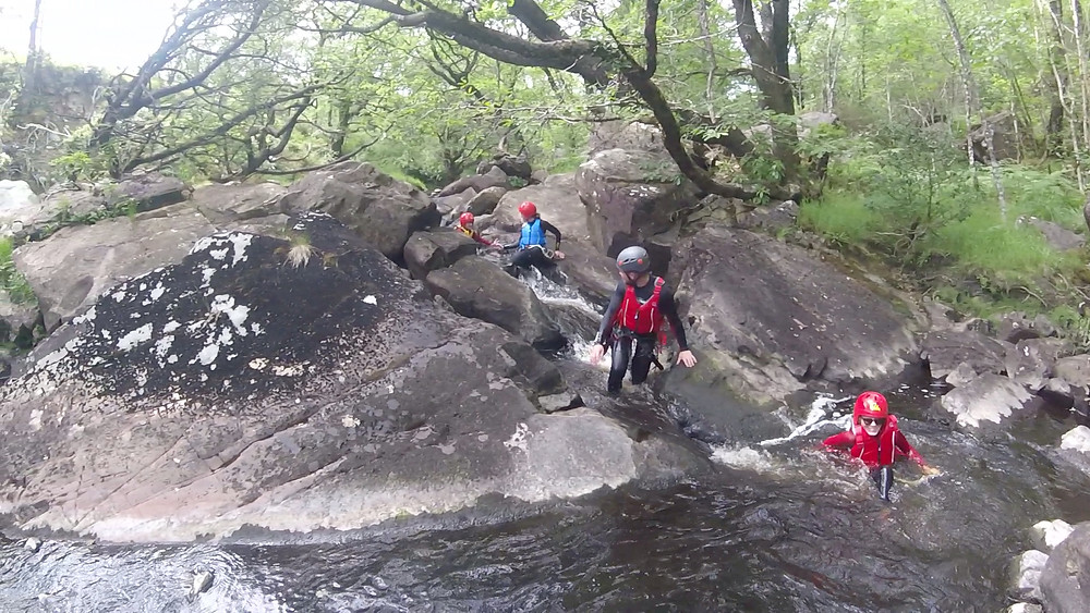 Gorge Scrambling with Adrenalin Addicts in North Wales