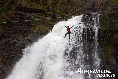 canyoning adventure with adrenalin addicts wales outdoor activities