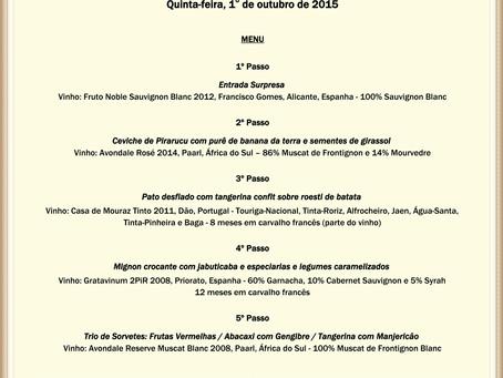 Jantar Harmonizado Menu Primavera e Vinhos Biodinâmicos e Orgânicos da Vinhos do Mundo - Nesta quint