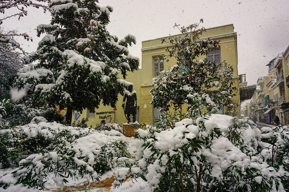 Plaka and Snow in Athens