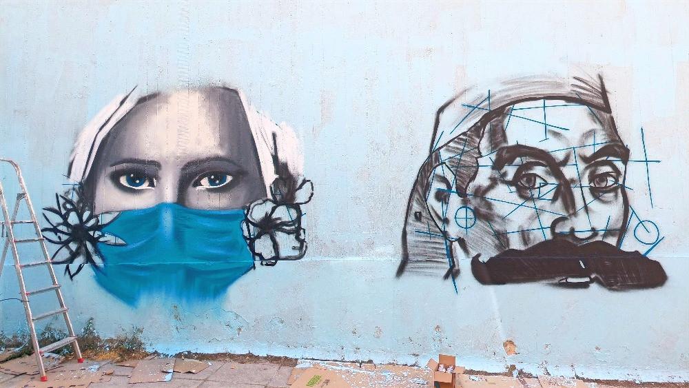 Ο τοίχος του 3ο Δημοτικού Σχολείου Βύρωνα
