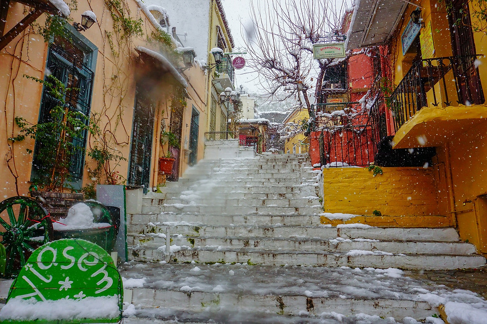One of the most beautiful streets in Athens Plaka
