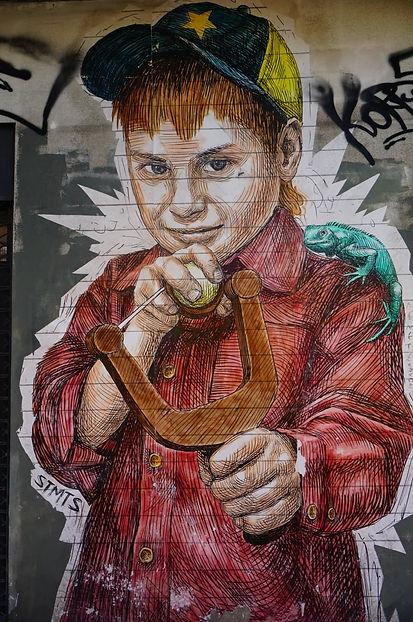 Hidden street art in Athens