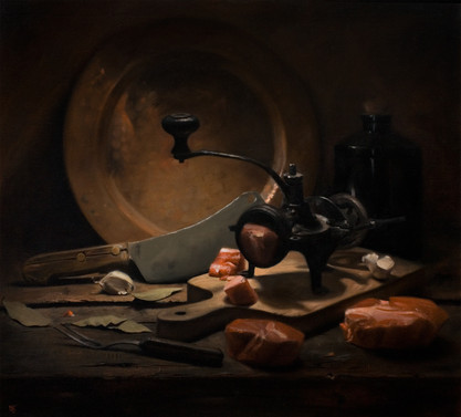"""Still Life with Meat"""