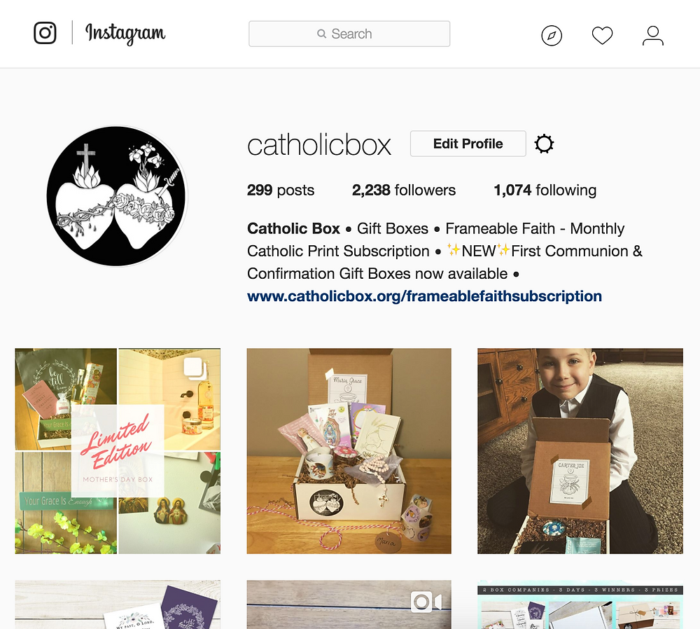 Catholic Box on Instagram