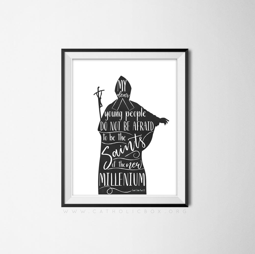 JPII Silhouette Print by Catholic Box