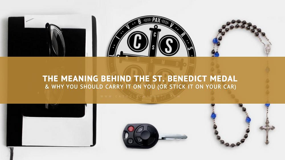 Saint Benedict Medal - Catholic Car Magnet St. Benedict Car Magnet
