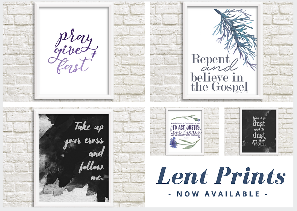 Lent Prints - Catholic Box