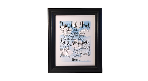 Guardian Angel Prayer Print