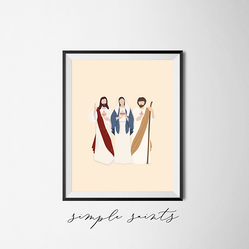 Three Hearts - Jesus, Mary and Joseph