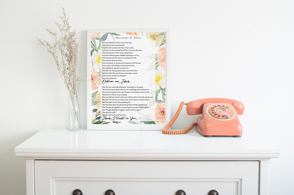 Litany of Trust Poster Freebie - The Simple Saints