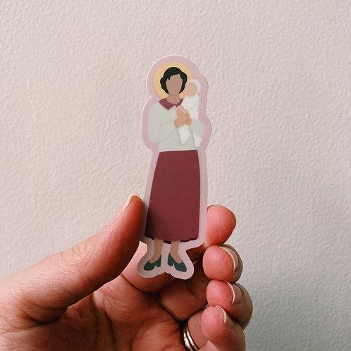 St. Gianna Beretta Molla Sticker