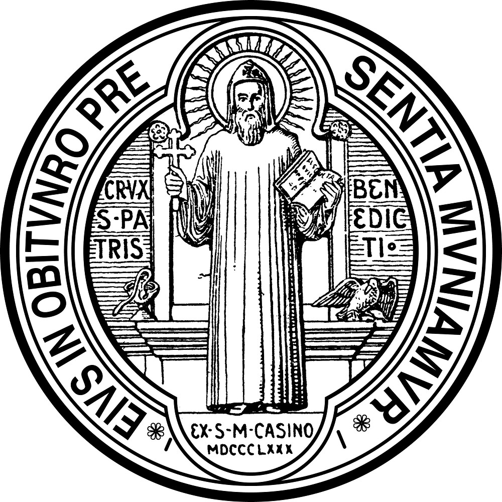The Front of the St. Benedict Medal