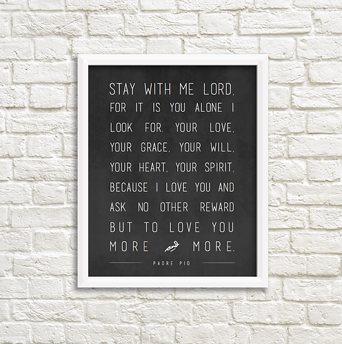 Stay with me Lord - chalkboard -