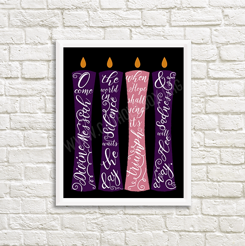 Come Divine Messiah | Advent Candles