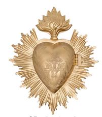 Vintage Sacred Heart Medallion