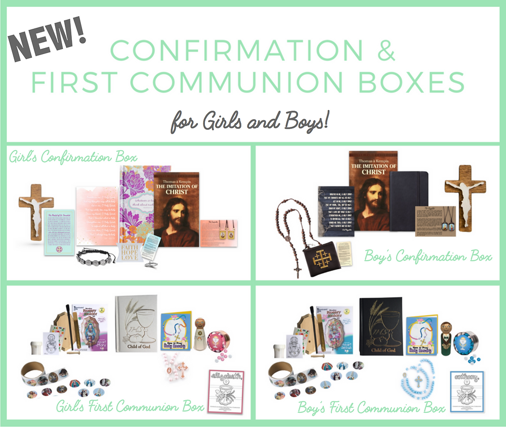 Confirmation Boxes & First Communion Boxes for boys and girls