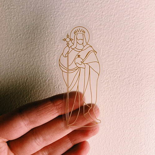 Christ the King Clear Sticker