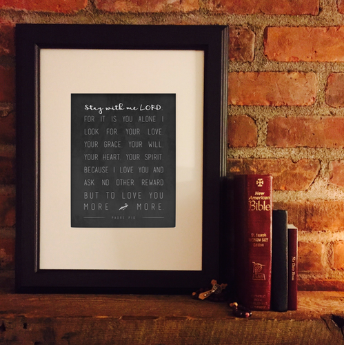 Stay with me Lord Prayer Individual Print