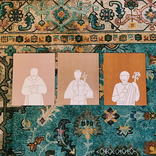Pio, John Paul and Joseph Color Block Set