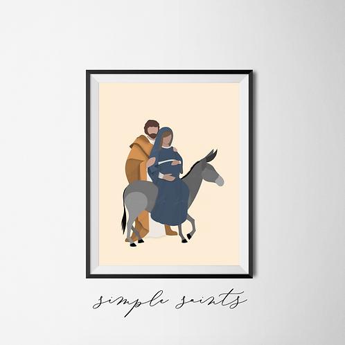 Mary and Joseph Go To Bethlehem