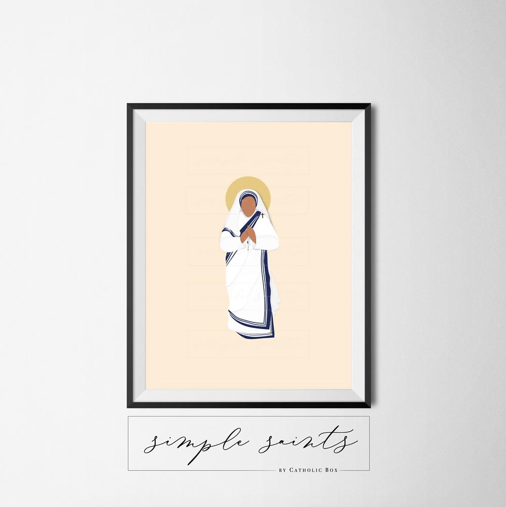 St. Teresa of Calcutta Simple Saint Print
