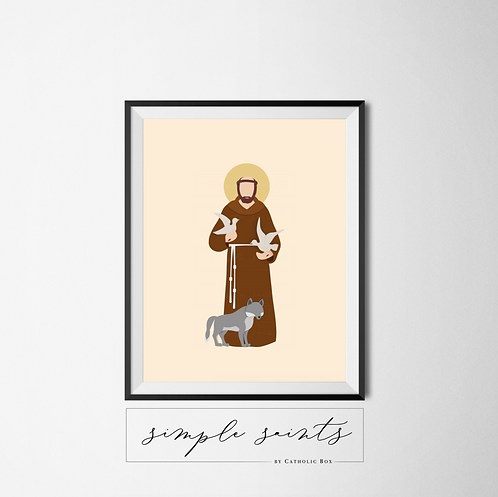 St. Francis of Assisi (with wolf)