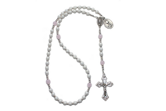 Pink First Communion Rosary