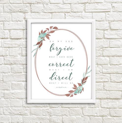 Forgive - Correct -Direct -